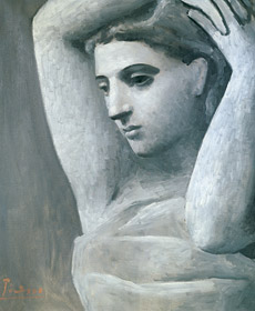 Bust of a Woman, Arms Raised